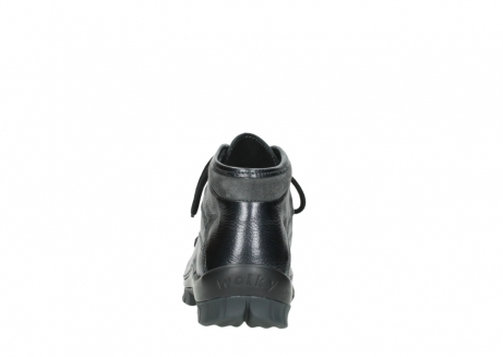 wolky lace up boots 04728 cross winter 81000 black metallic leather_7