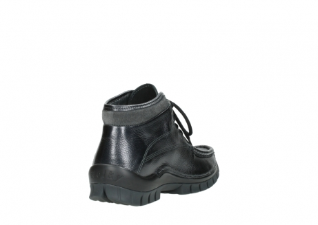 wolky lace up boots 04728 cross winter 81000 black metallic leather_9