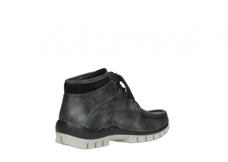 wolky lace up boots 04728 cross winter 81280 metal grey leather_10