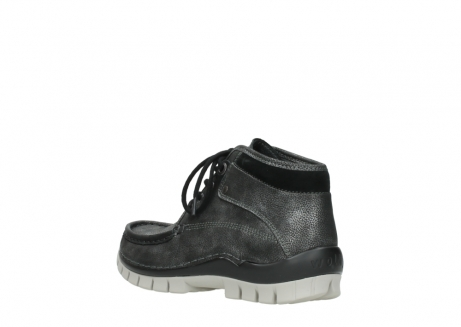 wolky lace up boots 04728 cross winter 81280 metal grey leather_4