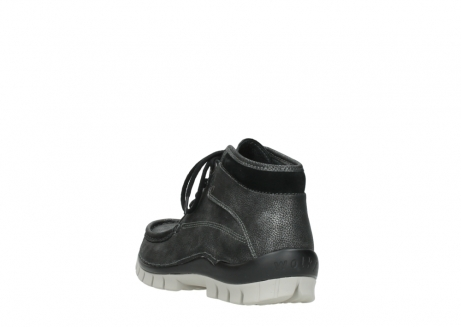 wolky lace up boots 04728 cross winter 81280 metal grey leather_5