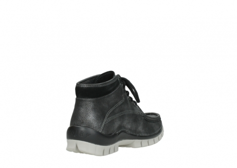 wolky lace up boots 04728 cross winter 81280 metal grey leather_9