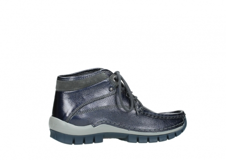 wolky lace up boots 04728 cross winter 81800 blue metallic leather_12