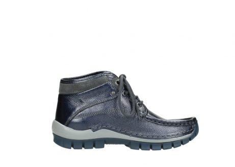 wolky lace up boots 04728 cross winter 81800 blue metallic leather_13