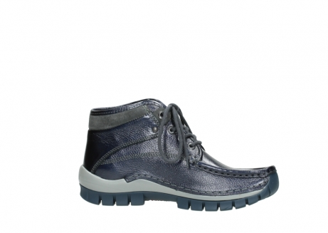 wolky lace up boots 04728 cross winter 81800 blue metallic leather_14