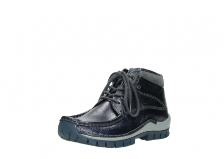 wolky lace up boots 04728 cross winter 81800 blue metallic leather_22