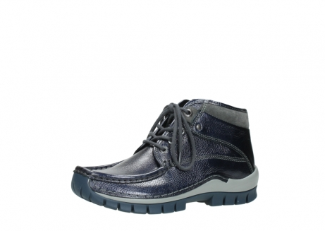 wolky lace up boots 04728 cross winter 81800 blue metallic leather_23