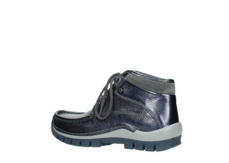 wolky lace up boots 04728 cross winter 81800 blue metallic leather_3