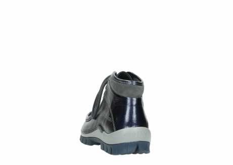 wolky lace up boots 04728 cross winter 81800 blue metallic leather_6