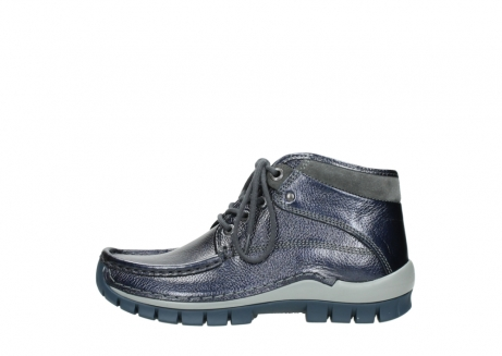 wolky lace up boots 04729 cross winter cw 81800 blue metallic leather_1