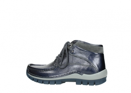 wolky lace up boots 04729 cross winter cw 81800 blue metallic leather_2