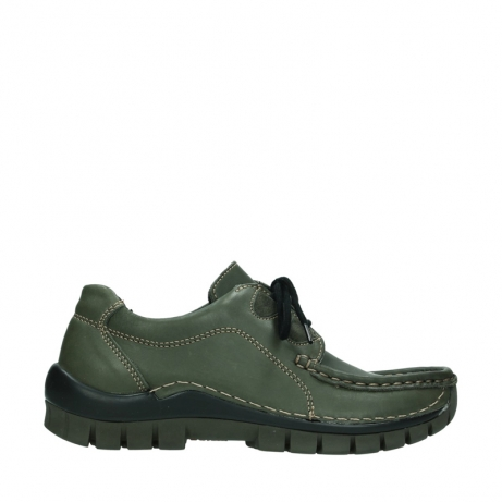 wolky bottines a lacets 04732 kick winter 20730 cuir vert