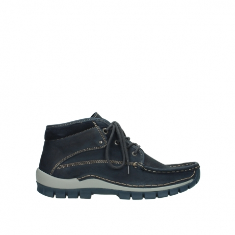 wolky veterboots 04751 cross men 11802 blauw geolied nubuck