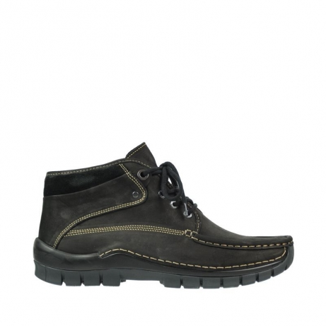 wolky veterboots 04751 cross men 50000 zwart leer