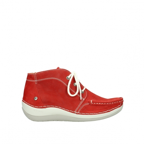 wolky veterboots 04803 olympia 10570 rood zomer nubuck
