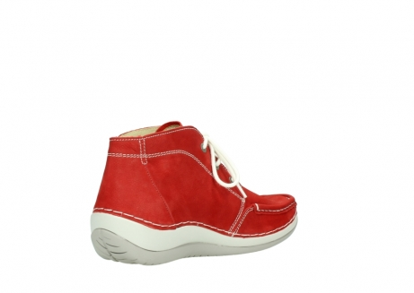 wolky lace up boots 04803 olympia 10570 red summer nubuck_10