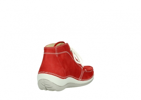 wolky lace up boots 04803 olympia 10570 red summer nubuck_9