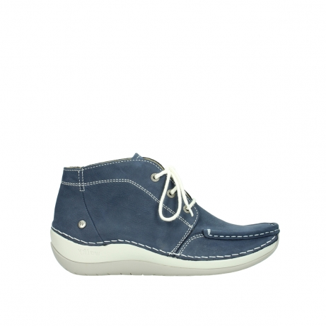 wolky lace up boots 04803 olympia 10820 denim blue nubuck
