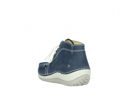 wolky lace up boots 04803 olympia 10820 denim blue nubuck_5