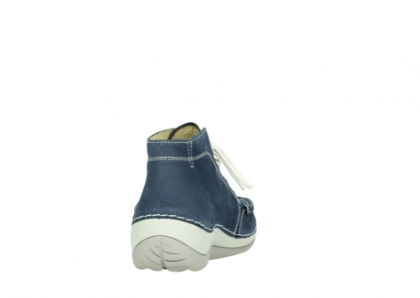 wolky lace up boots 04803 olympia 10820 denim blue nubuck_8