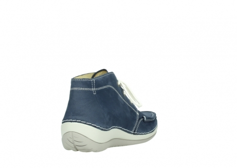 wolky lace up boots 04803 olympia 10820 denim blue nubuck_9