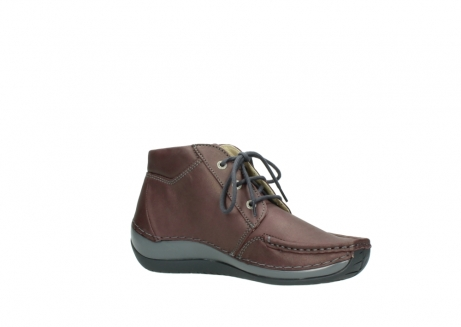wolky lace up boots 04826 sensation 10620 mottled metallic burgundy leather_15