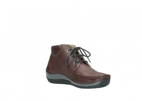 wolky lace up boots 04826 sensation 10620 mottled metallic burgundy leather_16