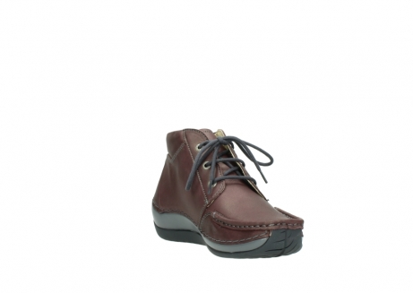 wolky lace up boots 04826 sensation 10620 mottled metallic burgundy leather_17