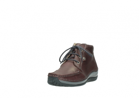 wolky lace up boots 04826 sensation 10620 mottled metallic burgundy leather_21