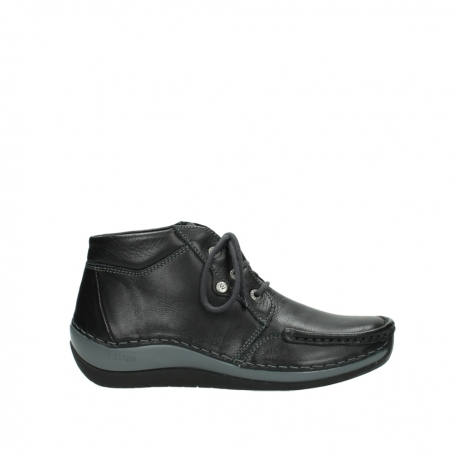 wolky lace up boots 04826 sensation 30001 black leather