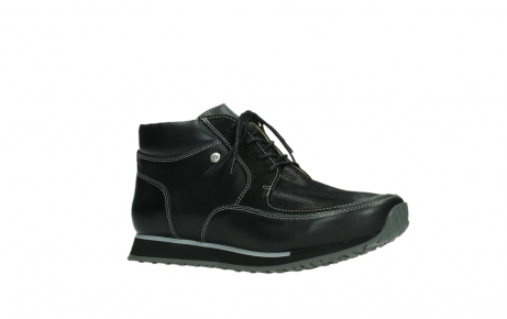 wolky veterboots 05802 e boot 20009 zwart stretch leer_3