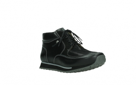 wolky veterboots 05802 e boot 20009 zwart stretch leer_4