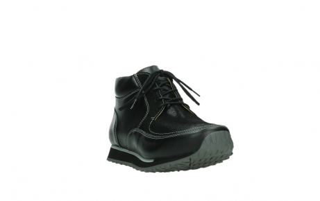 wolky veterboots 05802 e boot 20009 zwart stretch leer_5