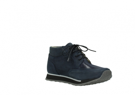 wolky bottines a lacets 05802 e boot 20809 cuir stretch bleu_16