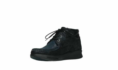 wolky lace up boots 05903 three 43800 blue metal stretch suede_10