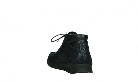 wolky lace up boots 05903 three 43800 blue metal stretch suede_17