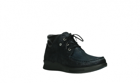 wolky lace up boots 05903 three 43800 blue metal stretch suede_4