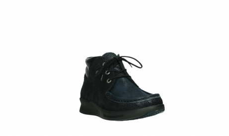 wolky lace up boots 05903 three 43800 blue metal stretch suede_5