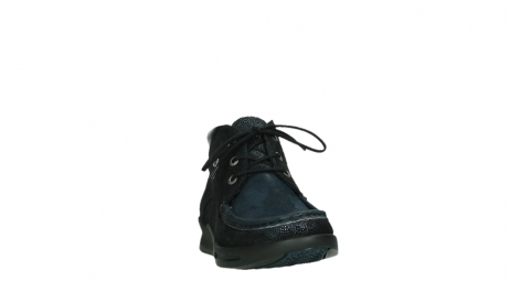 wolky lace up boots 05903 three 43800 blue metal stretch suede_6
