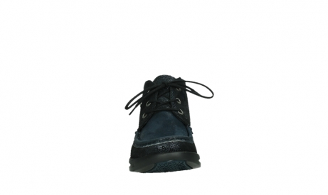 wolky lace up boots 05903 three 43800 blue metal stretch suede_7
