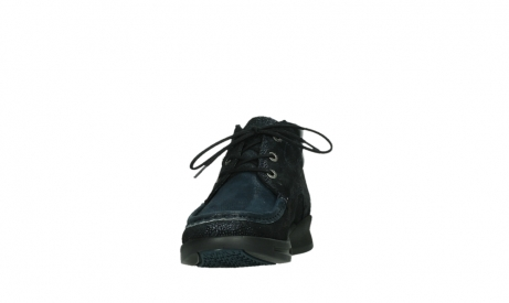 wolky lace up boots 05903 three 43800 blue metal stretch suede_8