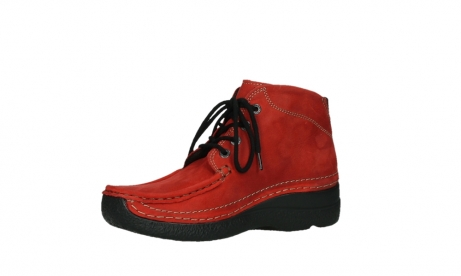 wolky lace up boots 06242 roll shoot 11505 darkred nubuckleather_11