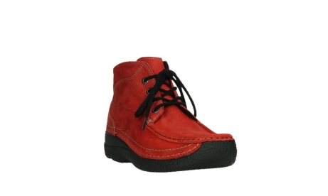 wolky lace up boots 06242 roll shoot 11505 darkred nubuckleather_5