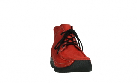 wolky lace up boots 06242 roll shoot 11505 darkred nubuckleather_6