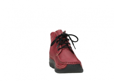 wolky bottines a lacets 06242 roll shoot 11530 cuir bordeaux_18