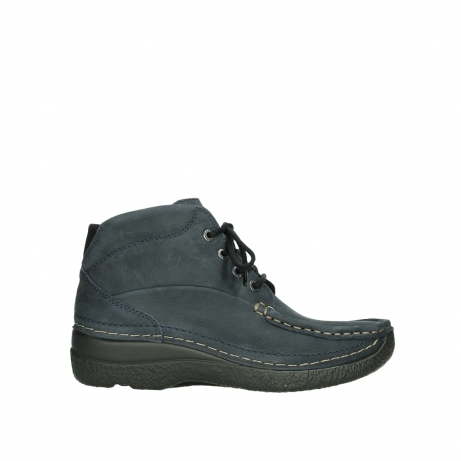 wolky bottines a lacets 06242 roll shoot 11802 nubuck bleu
