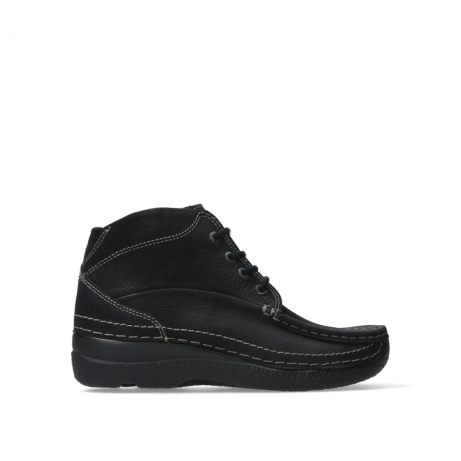 wolky lace up boots 06242 roll shoot 90000 black nubuck