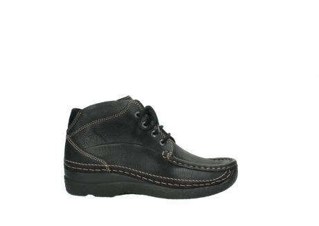 wolky veterboots 06242 roll shoot 90000 zwart nubuck_1