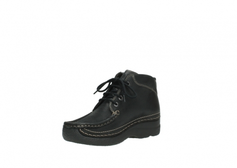 wolky veterboots 06242 roll shoot 90000 zwart nubuck_10