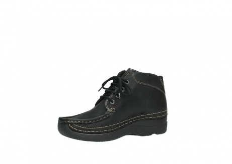 wolky lace up boots 06242 roll shoot 90000 black nubuck_11